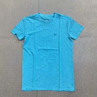 Kaos American Eagle Crewneck Cotton Stretch Tee Tosca Original