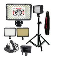 Paket Lampu LED 160 Video Light Vlog Lighting Kamera Studio Smartphone