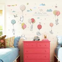 Wall Sticker Skandinavian Rabbit Lucu / Stiker Baby kamar anak