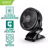 Robot RT-BF10 Kipas Angin Portable USB Mini Fan Garansi Resmi 1 Tahun - Hitam