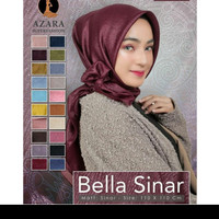 Hijab bella sinar lasercut by azara/jilbab segiempat polos/ glamor