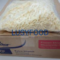 keju mozzarella shredded parut/Mozarella Anchor Repack 500gr