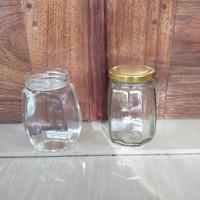 toples kaca segi lapan untuk madu