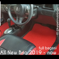 Karpet Mie Mobil Honda All New Brio 2019 Full Bagasi