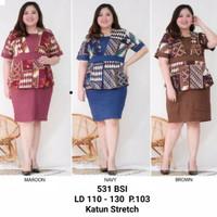 Dress batik super jumbo /dress batik brukat ukuran bigsize
