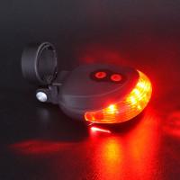 Lampu laser ini diletakkan pada bagian belakang sepeda untuk memberi r