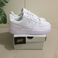 Sepatu Nike Air Force 1 Low Triple White Unisex - Premium Original