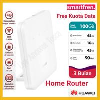 Home Router Smartfren 4G MiFi Modem WiFi Huawei B312 Unlock Free Kuota - B312 100GB LP