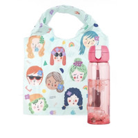 LocknLock x ideku handmade shopping bag bottle pink