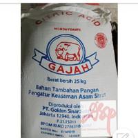 Citric Acid atau Citrun Cap Gajah ex lokal Food grade sak 25 kg
