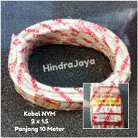 Kabel Listrik NYM / Kawat 2x1.5 Primero Panjang 10 Meter