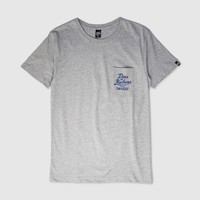 Kaos Deus Ex Machina Custom Surfboard Pocket Tee Grey Original DXM