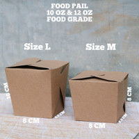 FOOD PAIL - RICE BOX - PAPER LUNCH BOX - NOODLE BOX - FOOD GRADE S M L