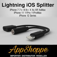 Lightning Dual Splitter Jack Audio iOS Aux Adapter Splitter Connector