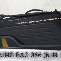 Tas / Bag Badminton Lining 066 ( 6 in 1 ) original