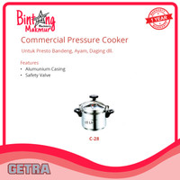 Panci Presto 15 Liter / Commercial Pressure Cooker Getra C-28