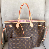 Tas Lv neverfull Mm Mirror Vip handmade quality Ori Leather Handmade