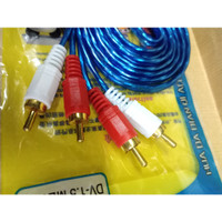 kabel rca 2 2 audio/ kabel audio 2 keluar 2/ 2 to 2 merk xuliu
