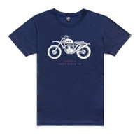Kaos Deus Ex Machina Wild Cat Tee Navy Blue Original DXM Cafe Racer