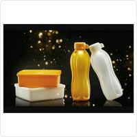 Botol tupperware / Eco Bottle / kotak makan tupperware/large square - putih pearl