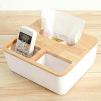tempat tisu kayu serbaguna / kotak tissue kayu serbaguna