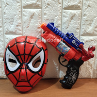 Mainan Set Tembakan Topeng Spiderman Lampu dan Suara