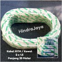 Kabel Listrik NYM / Kawat 2x1.5 Panjang 35 Meter