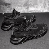 Sepatu Import Pria S0073 Sport Black Series Casual Running Shoes - Hitam, 39