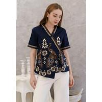 Atasan blouse batik wanita (267JM) batik modern model kimono