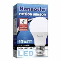 Lampu Bohlam LED Putih Sensor Gerak Hannoch 13 watt