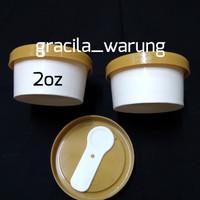 Cup Ice Cream/Gelas es krim 2oz+ tutup + sendok isi 50pc