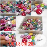 Fabric Button Kancing Bungkus Polka 1,8 per 100 pcs