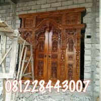 Kusen pintu gebyok ukir kayu jati mebel Jepara