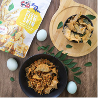 Zen Hao Salted Egg Fish Skin | Fishskin | Keripik Kulit Ikan
