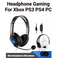 Headphone Headset Earphone Microphone Mikrofon Gaming Stereo PS4 PC