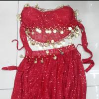 Paket Pakaian Kostum Nari Belly Dance