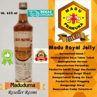 Madu Royal Jelly 650ml Madu Pramuka (Beli 2 Botol, Gratis Sendok Madu)