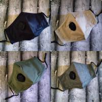 Masker Sepeda Cotton Premium Valve 3 ply Export Quality Free Filter