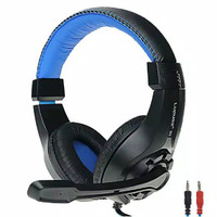 Headset Gaming + Microphone Mic Headphone PC Computer Laptop Online