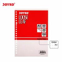 Loose Leaf Isi Kertas File Binder Joyko A5-100GR 50 Lembar Grid/Dot - Dot
