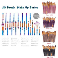 20pc Make Up Brush Complete Series / Kuas Make Up 20pc