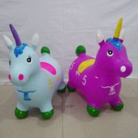 Animal jumping karet TEBAL musik Unicorn (SNI)/Mainan Kuda Kudaan anak