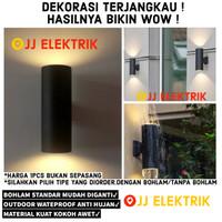 Lampu Dinding Taman Waterproof Minimalis Pilar Pagar Outdoor Bulat