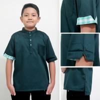 baju koko anak laki laki/kurta toyobo 4-14 tahun - Hijau, 5-6 tahun