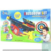 Mainan Anak Crossbow Memanah Panah Set Panah Panahan Tembakan