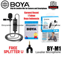 Microphone Mic Clip On Boya BY-M1 Lavalier for Camera Dslr Smarphone