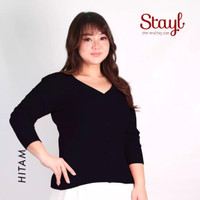 basic cardigan rajut XL jumbo besar sweater wanita aneka warna polos