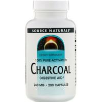 source natural naturals charcoal 260mg 260 mg isi 200