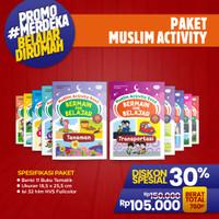 Buku Aktivitas Anak Islam PAUD Paket Muslim Activity Book for PAUD