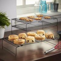 Cooling Rack Grill Rak Cake Pendingin Kue Tatakan Grid 3 Tingkat Susun